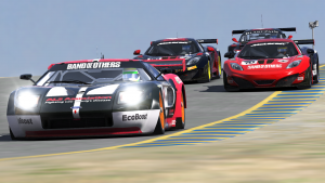 Close racing at Sonoma