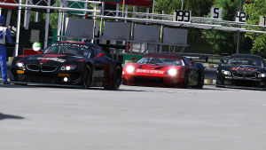 Racing in and out of the Pits at Summit Point.